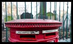 A little bokeh pano of a letterbox with rather colourful language.