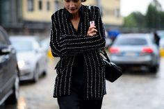 Milan Fashion Week Spring 2016 Street Style, Day 1 - Milan Fashion Week Spring 2016 Street Style, Day 1-Wmag