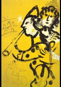 Marc Chagall The Clown Musician 1957