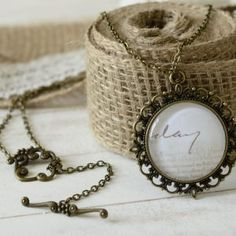 "necklace ""An old letter"""