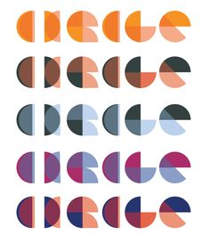 Creative typography, response to the word 'Circle', Word association project. Inspired by mid-century geometric typefaces.