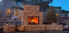 Chimenas outdoor design, creating another terrace. Outdoor Fun, Outdoor Spaces, Outdoor Living, Outdoor Ideas, Spring Landscape, Landscape Design, Portable Fireplace, Indoor Outdoor Fireplaces, Luxury Landscaping