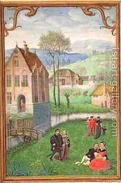 April from Book of Hours by Simon Bening