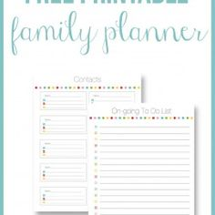 Family planner on by @Jennifer Jones