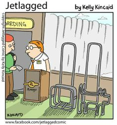 Jetlagged comic by Kelly Kincaid America West Airlines, Airline Humor, Flight Attendant Humor, Aviation Humor, Come Fly With Me, Jet Lag, Work Humor, My Job, Airports