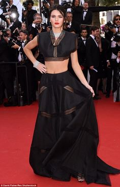 Oozing glamour: Kendall Jenner led the glamour in Azzedine Alaia on the red carpet at the ...