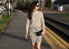 perfect sweater and skirt weather!