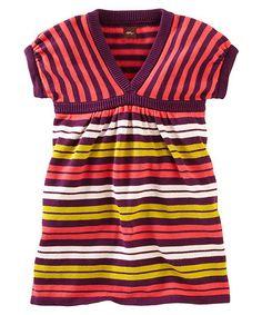 Look at this #zulilyfind! Hyacinth & Yellow Stripe Sweater Dress - Infant, Toddler & Girls #zulilyfinds