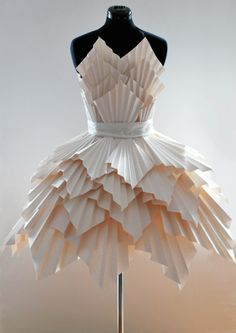 ℘ Paper Dress Prettiness ℘ art dress made of paper - Ideas for art class Source by dresses fashion
