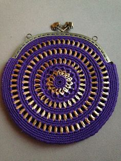 Violet soda tab purse with a nice elephant detail