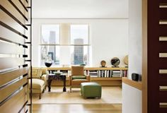 Modern Living Room by Rose Tarlow and Richard Meier & Partners Architects in New York, New York