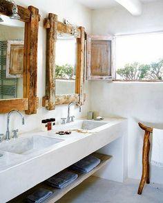 6 Lindos banheiros rústicos