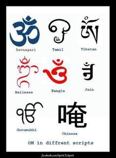 ॐ Different symbols for Om, different languages