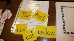 I love this activity to assist students with forming correct sentences.  Then they can practice writing from a model, which allows them to focus on proper writing mechanics.