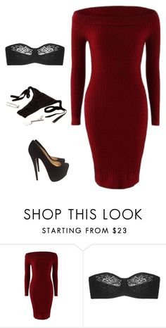 """""""Dinner"""" by princ-xss ❤ liked on Polyvore featuring Wacoal and Christian Louboutin"""