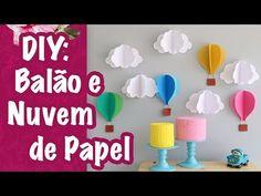 DIY: Balão e nuvem de papel - YouTube