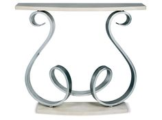 Bolshoi Console Table - Silver leaf with limestone top and plinth, wall mounted. Dimensions: h940 w1200 d400 Finishes: Silver Leaf