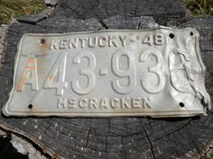 1948 #Kentucky License Plate  McCracken County by WesternKyRustic #rustic #primitive #art #history #decor