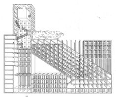 Proposal for a Danteum  Franco Purini    [Rome, 1965]
