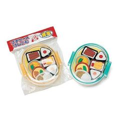 Iwako Eraser Set Chinese Food by BC Mini. $4.50. These charming erasers are also non-toxic, lead-free, and made with recyclable materials. Popular with kids 3 and up, these erasers add a little fun to the daily grind. Highly collectible and tradable. 7 piece assortment in a plastic bento box.
