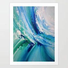 Turquoise Wave Art Detail 1 Art Print #contemporaryartprint #bluewaves #waterartwork #abstractwater #spa Wave Art, Travel Mug, Spa, Waves, Turquoise, Art Prints, Contemporary, Detail, Abstract