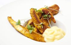 Lightly curried chicken with mango mayonnaise by Galton Blackiston