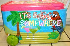 Oh my gosh I am going to get into this cooler painting post graduation and pre move!