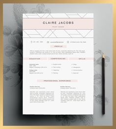 Creative Resume Template Editable in MS Word and Pages. by CvDesignCo on Etsy https://www.etsy.com/listing/223612879/creative-resume-template-editable-in-ms