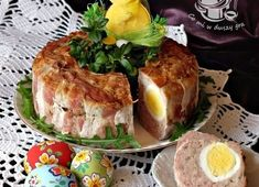 Meatloaf with Boiled Eggs - Lovely for Easter or Christmas. Polish Recipes, My Recipes, Favorite Recipes, Polish Food, Easter Recipes, Boiled Eggs, Meatloaf, Camembert Cheese, Food To Make