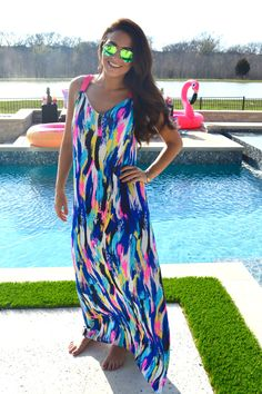 Cindy Maxi Dress- Indian Paint Brush from Shop Southern Roots TX