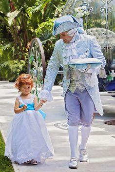 This adorable princess got a hand from our very own Major Domo #Disney #wedding #Cinderella #MajorDomo