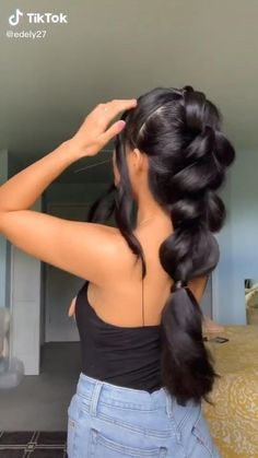 Hair Streaks, Hair Color Balayage, Braided Hairstyles Tutorials, Easy Hairstyles For Long Hair, Hair Color Placement, Hair Up Styles, Hair Color Techniques, Aesthetic Hair, Hair Videos