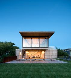 Completed in 2016 in Amagansett, United States. Images by Bates Masi Architects               . Across the street from the property, in the low dunes near the Atlantic Ocean, a historic Life Saving Station serves as a cherished reminder of the...