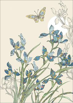 BugArt Collage ~ Wild Blue Orchids. Collage *NEW* Designed by Jane Crowther.