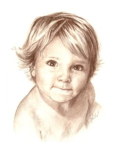 Commissioned by a client. Drawn from a photograph.   Conte pencil on art paper.