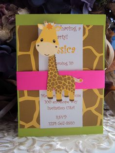 Zoo invitation,Safari Invitation, Childrens Birthday Invitation. $25.00, via Etsy.