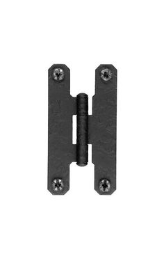 """Pair of Forged Iron """"H"""" Style Cabinet Hinges - 3"""" H x 1 3 ..."""