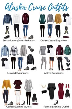 Wondering what to wear on an Alaskan cruise? Read our Alaska cruise outfits guide! Get the right clothes for Alaska cruise travel and create cute Alaskan cruise outfits! Cancun Outfits, Summer Cruise Outfits, Cruise Attire, Travel Outfit Summer, Cruise Wear, Fall Outfits, Looking For Alaska, Cruise Collection, Cruise Travel
