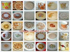 Crown Lynn / Dinnerware / Patterns ~*~*~* Our aim is to supply our customers an opportunity to hire from our Gorgeous selection of Crown Lynn dinnerware to beautify their table settings / venue. Dinnerware, Opportunity, Table Settings, Crown, Mugs, Tableware, Vintage, Patterns, Black