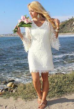 ERIN BEACH GODDESS CROCHET DRESS by Rodeo Fox #beachwedding