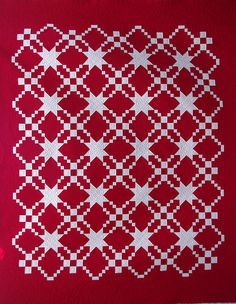 Red And White Cottage Quilts | Red and White Quilt No. 2′ made by two Australian ladies as a ...