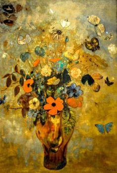Odilon Redon - Still Life with Flowers, 1905
