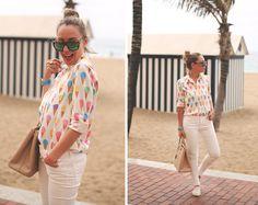 Sheinside Shirt, Prada Bag, Topshop Sneakers, Zara Jeans, Sunglass Island Sunnies, Balber Watch, Tous Jewerly