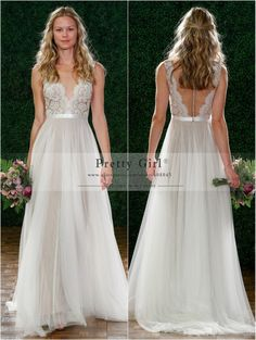 2015 New Fashion V-Neck Backless See Through Sexy Chiffon Boho Wedding Dresses Romantic Bridal Gown for Wedding Vestido De Noiva http://www.AmericasMall.com