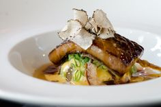 """This is just a mouth watering dish: Pan-seared Foie Gras, Braised Summer Daikon, Miso-cured Cheese, Sweet Coconut Potato Coulis, and """"Victoria"""" Muscatel Teriyaki Glaze.    - Chef Youji Iwakura of Oishii - Boston, MA."""