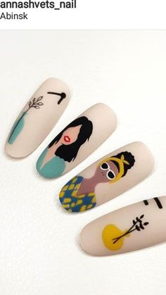 Pin on Fancy French Nails Pin on Fancy French Nails Black Acrylic Nails, Summer Acrylic Nails, Nail Art Designs Videos, Nail Designs, Cute Nails, Pretty Nails, Picasso Nails, Pop Art Nails, Nailart