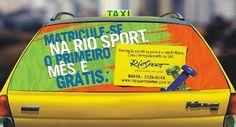 #RIOSPOTCENTER - #RIODEJANEIRO - #CARTAXI  A segunda campanha em táxis, da maior academia do Brasil começa circular ainda esta semana nas ruas cariocas.      A Rio Sport já conta com 3 unidades, 2 no Rio e uma em BH. A mídia no vidro traseiro, permanecerá nas ruas durante 30 dias. A realização é da Cartaxi.