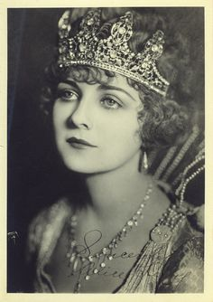 Alice Terry 1920's silent film star.  Her most famous role comes from the movie The Four Horsemen of the Apocalypse.  The Four Horsemen of the Apocalypse is one of the top 100 silent era movies and stars Rudolph Valentino.  It made him a huge star.  The Four Horseman was the 6th highest grossing film of the silent era.  This movie is available on youtube.