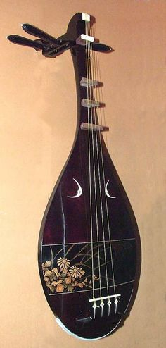 frettedchordophones:    1996 Satsuma Biwa by Mamoru Ohashi - the lacquer work is lovely and I think they count as frets?    =Lardys Chordophone of the day - a year ago --- https://www.pinterest.com/lardyfatboy/