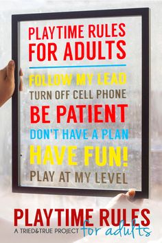 Playtime Rules for Adults Wall Hanging